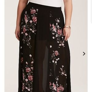 Torrid Sheer Maxi Skirt w/ Shorts Underneath